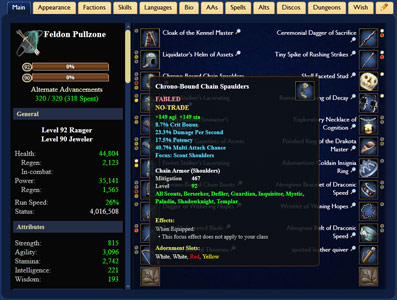 EQ2U -- Character, Guild, Quest, Recipe, and Item Armory for